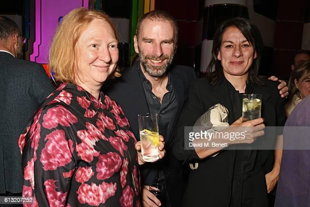 Margot Henderson Damon Murray and Rebecca Warren attend the Frieze Magazine 25th anniversary dinner at Brasserie Zedel on October 7 2016 in London...