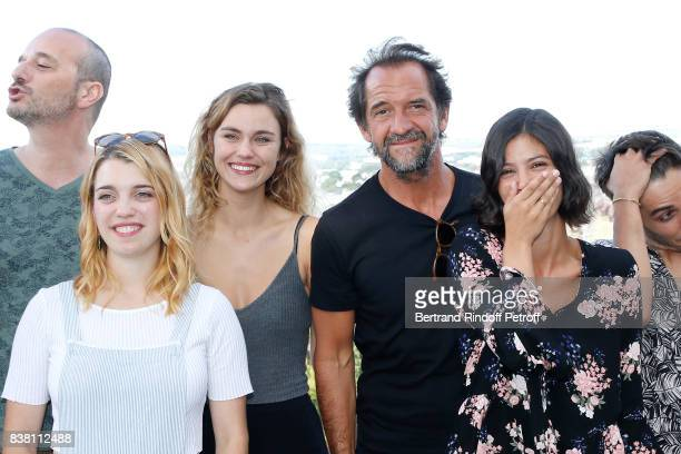 Margot Luciarte Stephane de Groodt Lucie Boujenah and 'Les Talents ADAMI' attend the 10th Angouleme FrenchSpeaking Film Festival Day Two on August 23...