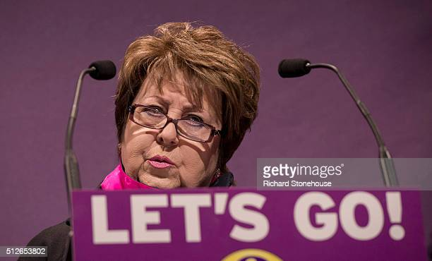 Margot Parker speaking at the UKIP Spring Conference on February 27 2016 in Llandudno Wales UKIP's annual national Spring Conference is being held...
