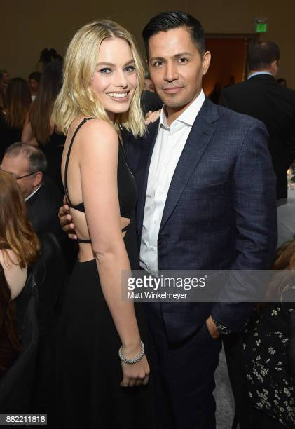 Margot Robbie and Jay Hernandez attend ELLE's 24th Annual Women in Hollywood Celebration presented by L'Oreal Paris Real Is Rare Real Is A Diamond...