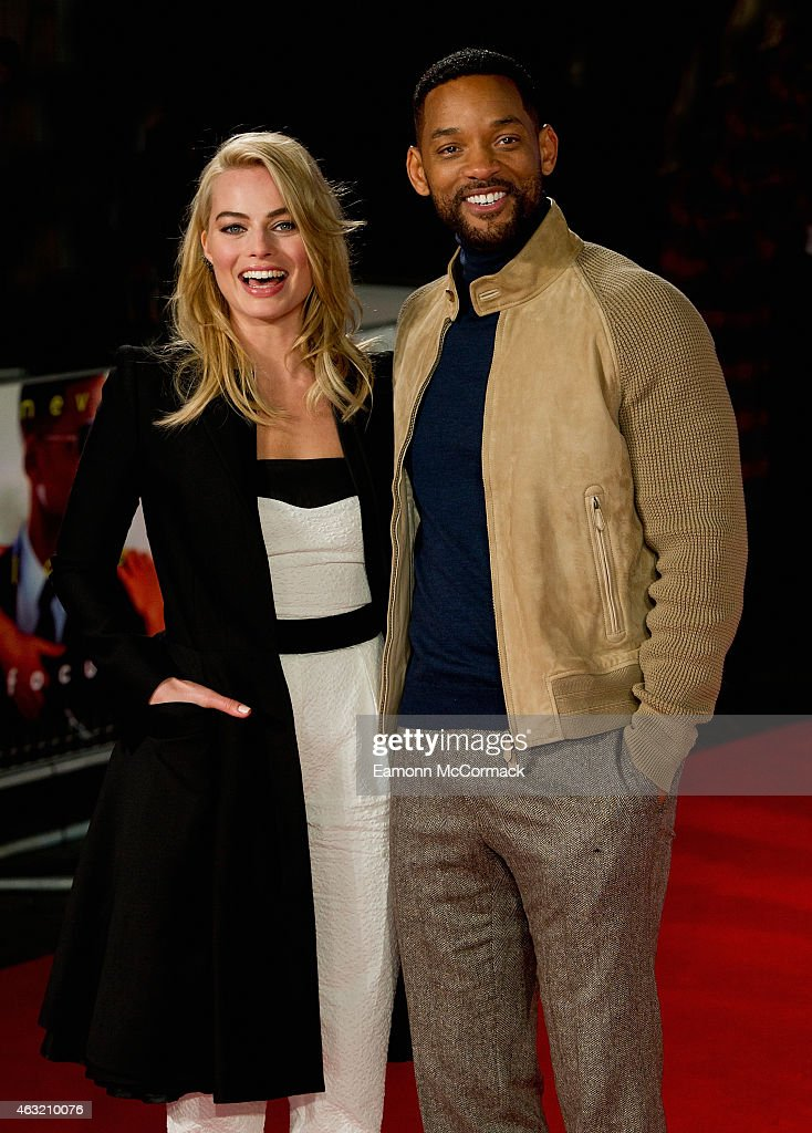 Margot Robbie and Will Smith attend a special screening of 'Focus' at Vue West End on February 11, 2015 in London, England.
