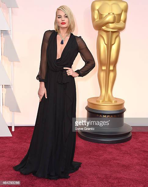 Margot Robbie arrives at the 87th Annual Academy Awards at Hollywood Highland Center on February 22 2015 in Hollywood California