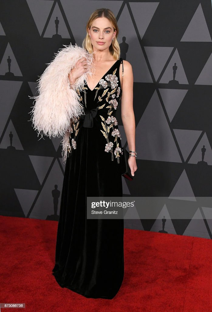 Margot Robbie arrives at the Academy Of Motion Picture Arts And Sciences' 9th Annual Governors Awards at The Ray Dolby Ballroom at Hollywood & Highland Center on November 11, 2017 in Hollywood, California.