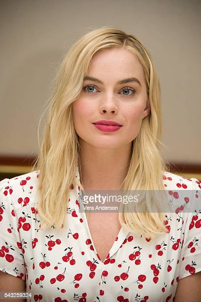 Margot Robbie at 'The Legend of Tarzan' Press Conference at the Beverly Hilton Hotel on June 26 2016 in Beverly Hills California