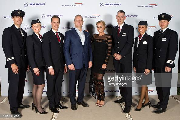 Margot Robbie attends British Airways celebration of the launch of its new Boing 7879 Dreamliner on its daily LondonAbu DhabiMuscat service British...