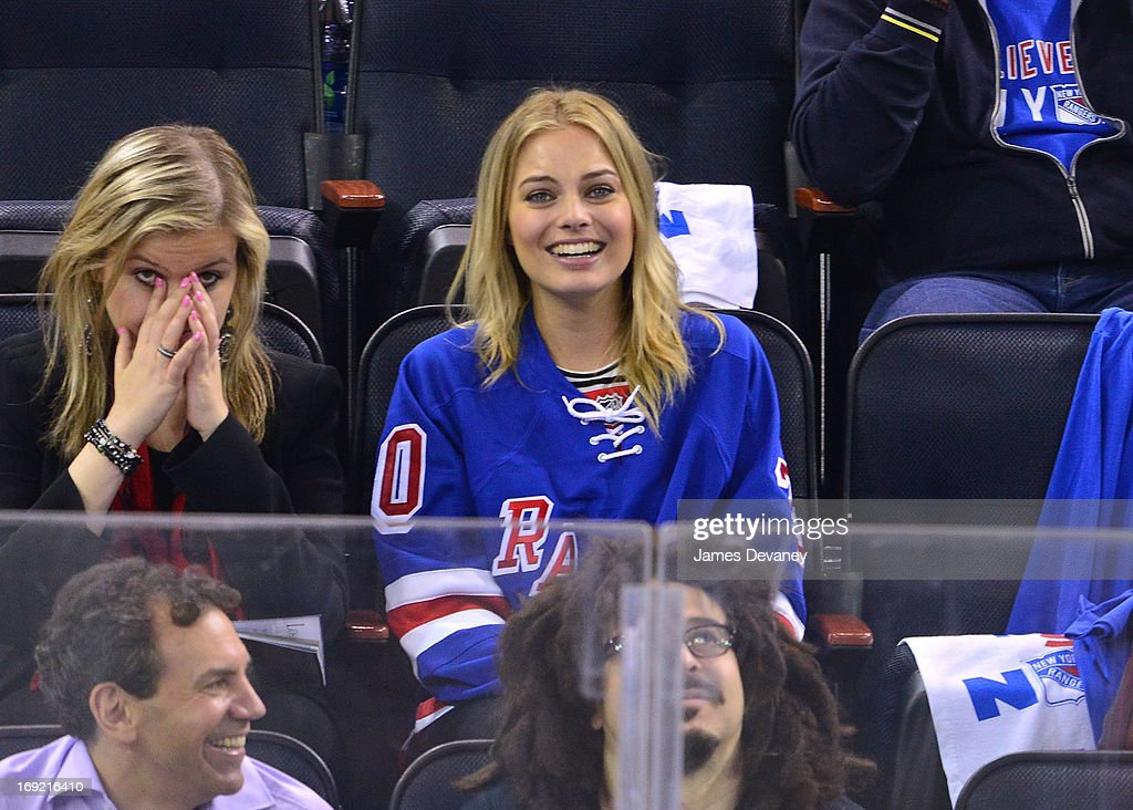 <a gi-track='captionPersonalityLinkClicked' href=/galleries/search?phrase=Margot+Robbie&family=editorial&specificpeople=5781742 ng-click='$event.stopPropagation()'>Margot Robbie</a> attends the Boston Bruins Vs New York Rangers game at Madison Square Garden on May 21, 2013 in New York City.