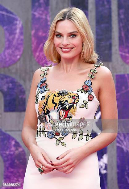 Margot Robbie attends the European Premiere of 'Suicide Squad' at the Odeon Leicester Square on August 3 2016 in London England
