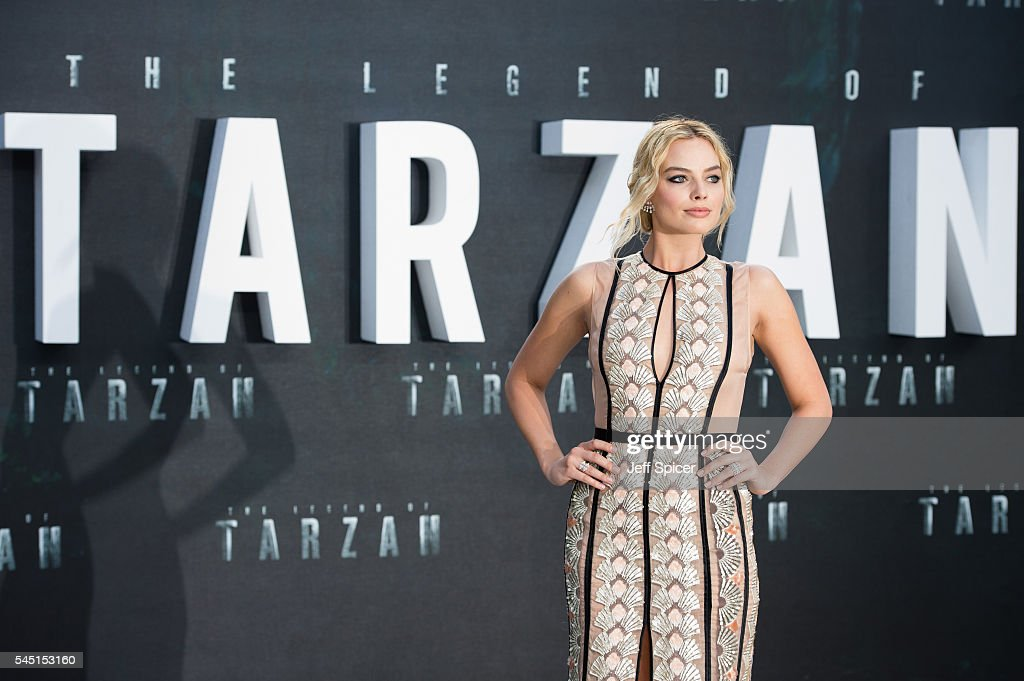 Margot Robbie attends the European premiere of 'The Legend Of Tarzan' at Odeon Leicester Square on July 5, 2016 in London, England.