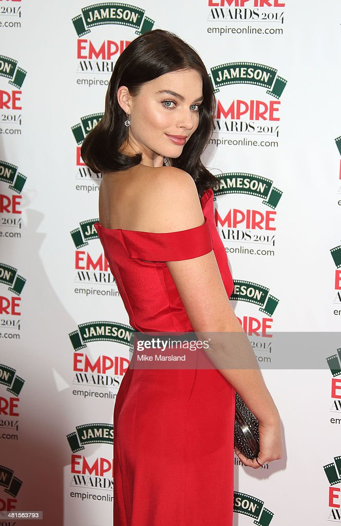<a gi-track='captionPersonalityLinkClicked' href=/galleries/search?phrase=Margot+Robbie&family=editorial&specificpeople=5781742 ng-click='$event.stopPropagation()'>Margot Robbie</a> attends the Jameson Empire Film Awards at Grosvenor House, on March 30, 2014 in London, England.