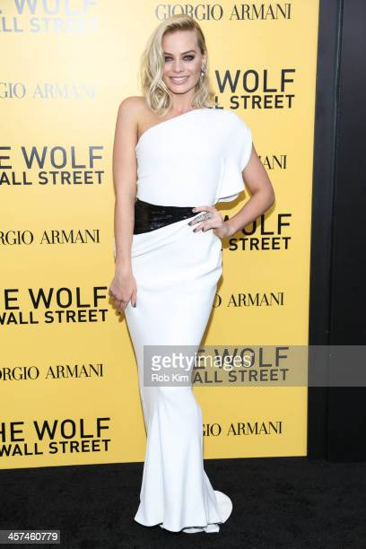 Margot Robbie attends the 'The Wolf Of Wall Street' premiere at Ziegfeld Theater on December 17 2013 in New York City