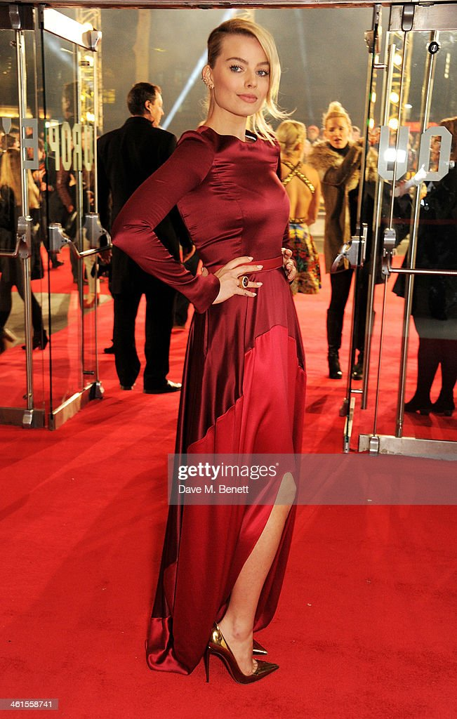 <a gi-track='captionPersonalityLinkClicked' href=/galleries/search?phrase=Margot+Robbie&family=editorial&specificpeople=5781742 ng-click='$event.stopPropagation()'>Margot Robbie</a> attends the UK Premiere of 'The Wolf Of Wall Street' at Odeon Leicester Square on January 9, 2014 in London, England.