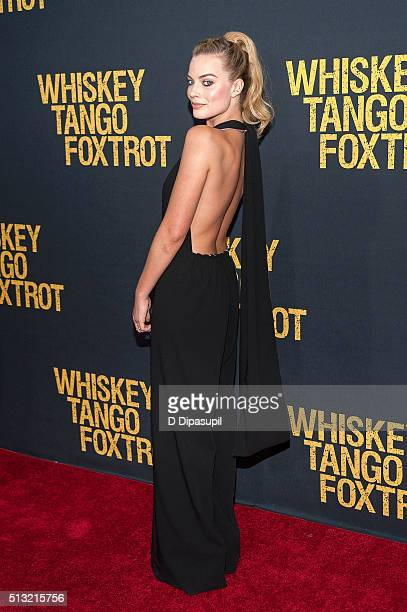 Margot Robbie attends the 'Whiskey Tango Foxtrot' world premiere at AMC Loews Lincoln Square 13 theater on March 1 2016 in New York City