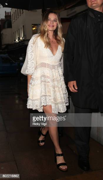 Margot Robbie attends Zimmermann flagship store opening party at No 5 Hertford Street on June 27 2017 in London England