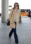 Margot Robbie is seen as she departs out of Los Angeles International Airport on March 03 2014 in Los Angeles California