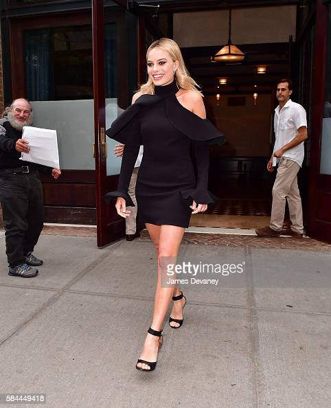 Margot Robbie seen on the streets of Manhattan on July 28 2016 in New York City