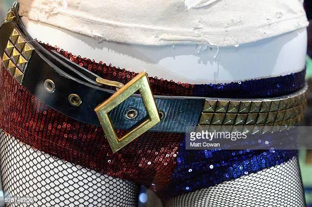 Margot Robbie's Harley Quinn costume from 'Suicide Squad' is displayed at ComicCon International 2016 preview night on July 20 2016 in San Diego...