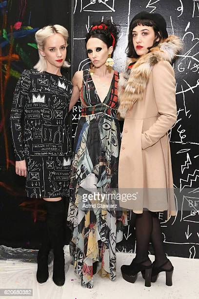 Margot Stacey Bendet and Mia Moretti attend the alice olivia x Basquiat CFDA Capsule Collection launch party on November 2 2016 in New York City