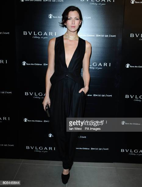 Margot Stilley arrives at the Vogue/Bulgari 125th Anniversary Party supporting Save the Children at the Saatchi Gallery in LondonPicture date Tuesday...