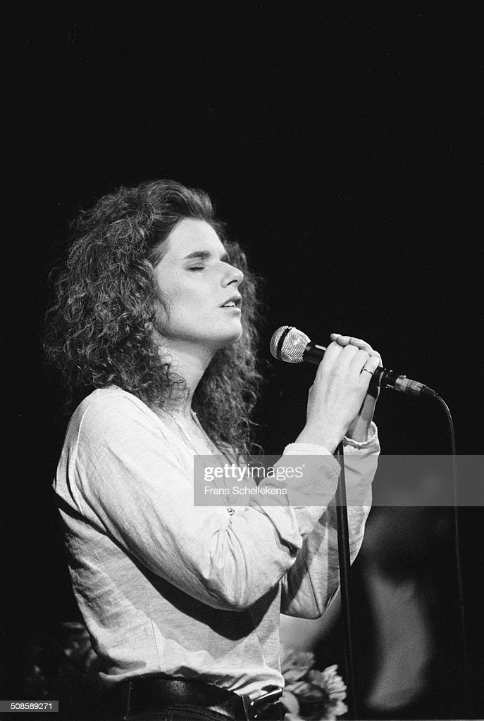 Margot Timmins, vocal, performs with the Cowboy Junkies at the Paradiso on 9th March 1992 in Amsterdam, Netherlands.