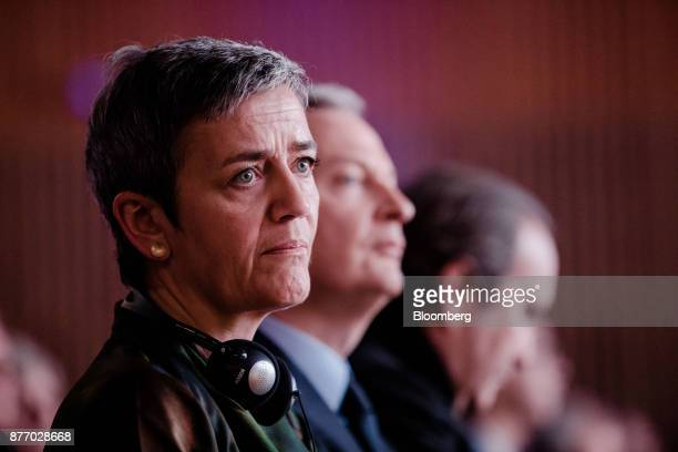 Margrethe Vestager competition commissioner of the European Commission sits in the audience during the Rendezvous de Bercy economic debate at the...