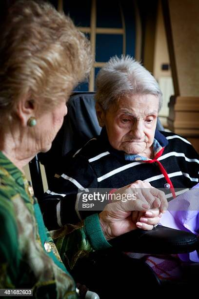 Marguerite Conrad is 110 years old her family is made up of 5 generations and she knows her great great grand children She worked until she was 76...