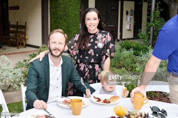 Marguerite Moreau and family attend Diono Presents Inaugural A Day of Thanks and Giving Event at The Beverly Hilton Hotel on November 19 2017 in...