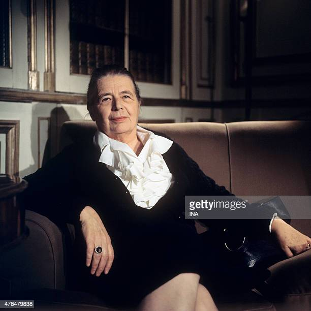 Marguerite Yourcenar interviewed on her work ''The work to the black'' in the program ''Clio and his''