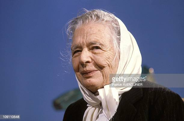 Marguerite Yourcenar On The News Of Tf1 On February 11 1986 In Paris France Portrait Of Marguerite Yourcenar
