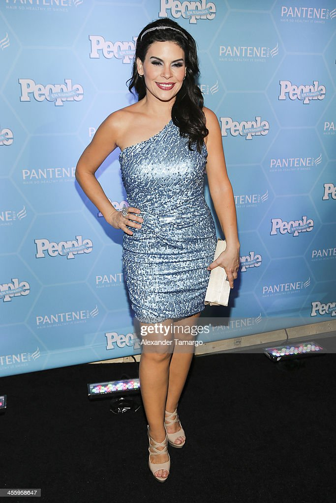 Mari Boquitas arrives at the Estrellas Del Ano De People En Espanol party at The James Royal Palm Hotel on December 12, 2013 in Miami, Florida.