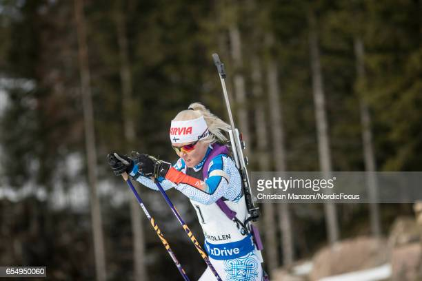 Mari Laukkanen of Finland competes during the 10 km men's Sprint on March 17 2017 in Oslo Norway