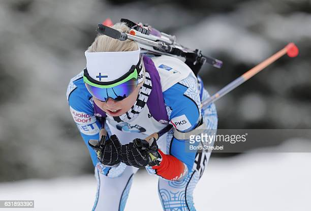 Mari Laukkanen of Finland competes during the 75 km women's Sprint on January 6 2017 in Oberhof Germany