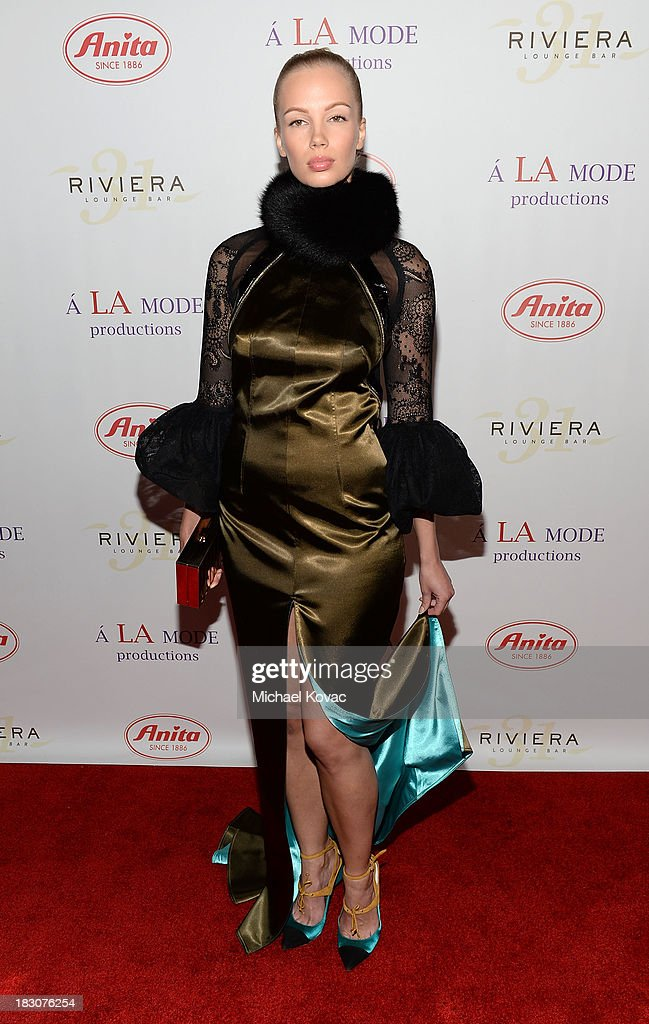Mari Lu arrives for A la mode Productions Presents Designers Night Out at Sofitel Hotel on October 3, 2013 in Los Angeles, California.