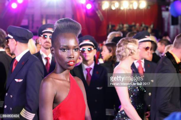 Mari Malek arrives for the Life Ball 2017 at City Hall on June 10 2017 in Vienna Austria