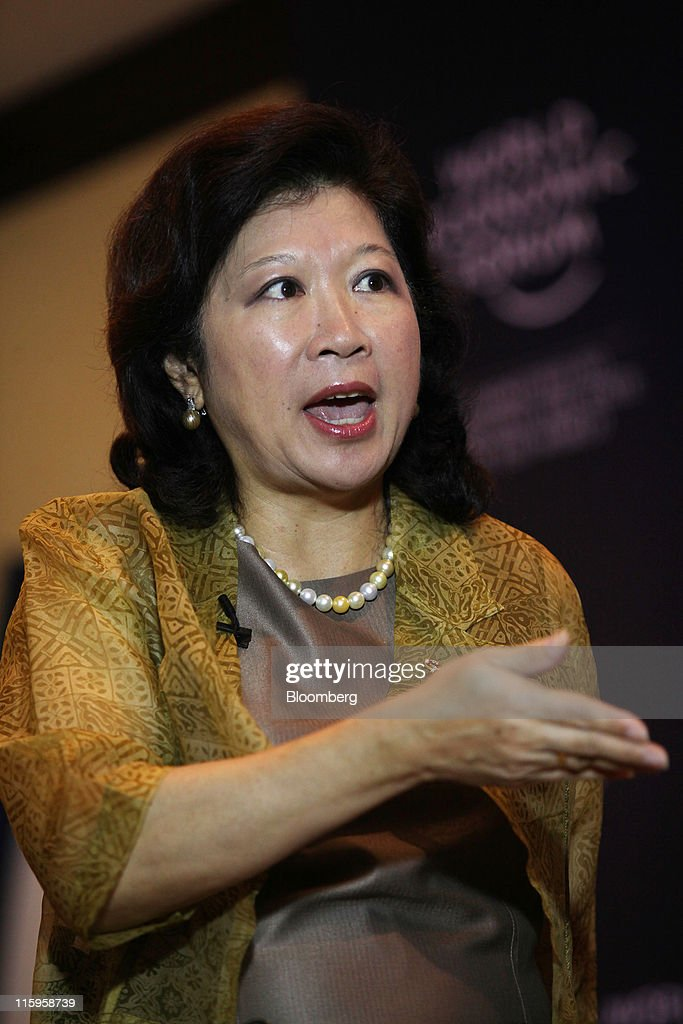 Mari Pangestu, Indonesia's minister of trade, speaks during an interview at the World Economic Forum (WEF) on East Asia, in Jakarta, Indonesia, on Monday, June 13, 2011. The WEF on East Asia concludes today. Photographer: Dimas Ardian/Bloomberg via Getty Images