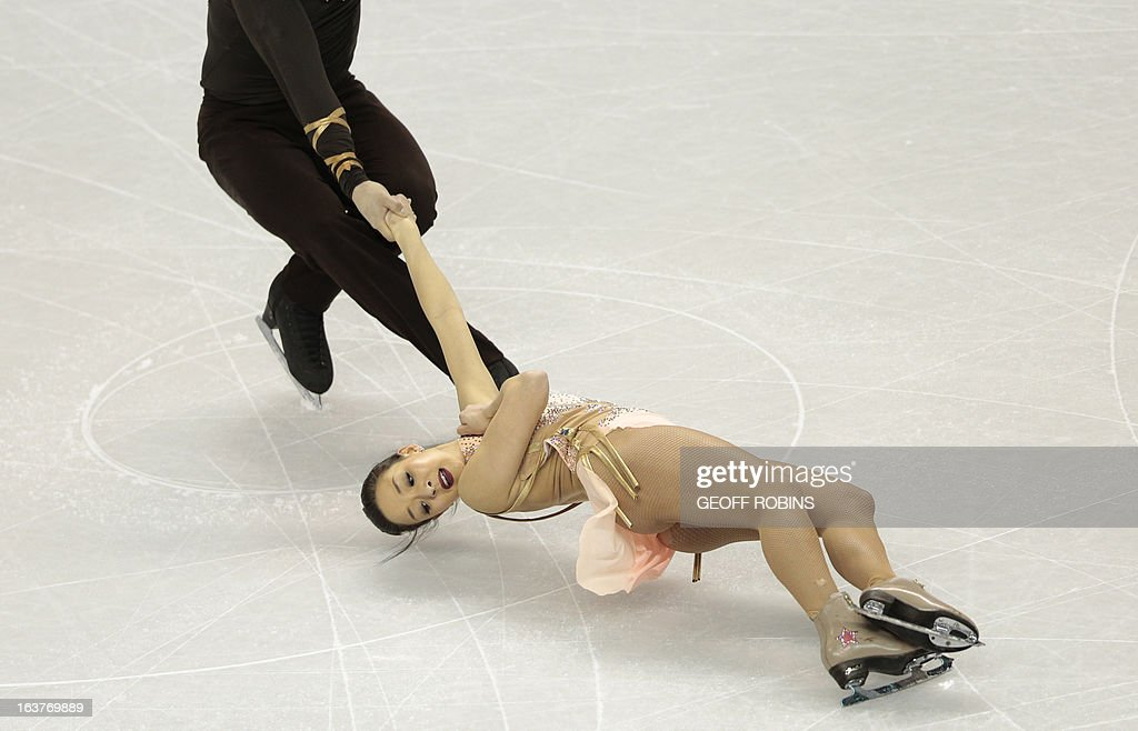 Mari Vartmann and Aaron Van Cleave compete for Germany during the Pairs Free Skating event at the 2013 World Figure Skating Championships March 15, 2013 in London, Ontario, Canada. AFP PHOTO/Geoff Robins