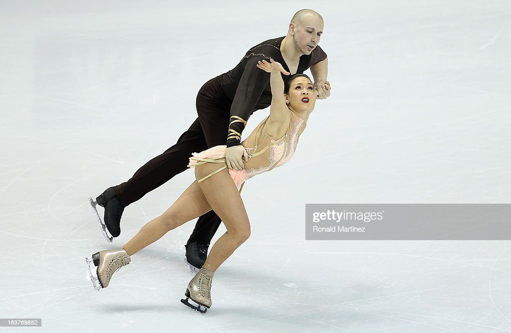 Mari Vartmann and Aaron Van Cleave of Germany compete in the Pairs Free Skating during the 2013 ISU World Figure Skating Championships at Budweiser Gardens on March 15, 2013 in London, Canada.