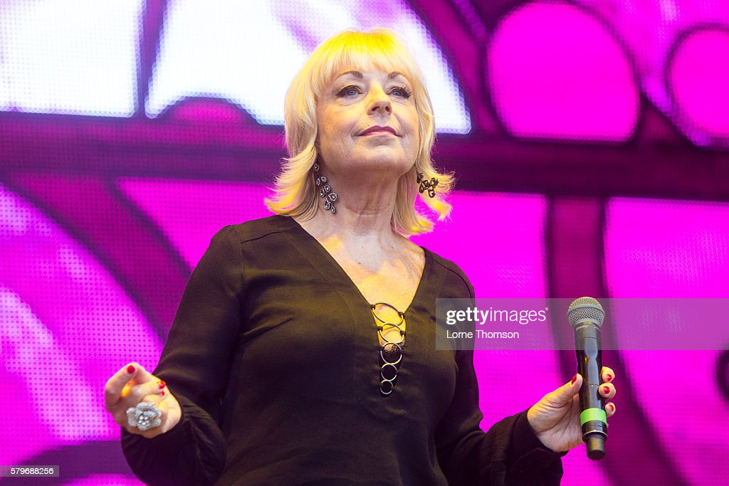 Mari Wison performs with the British Electric Foundation on day three of Rewind Scotland at Scone Palace on July 24 2016 in Perth Scotland