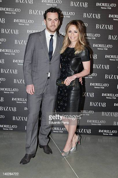 Maria Adanez and husband attend Harper's Bazaar magazine party photocall at Matadero Madrid on March 1 2012 in Madrid Spain