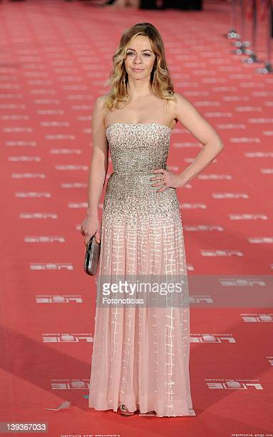 Maria Adanez arrives to Goya Cinema Awards 2012 ceremony at the Palacio Municipal de Congresos on February 19 2012 in Madrid Spain