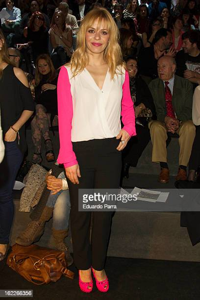 Maria Adanez attends a fashion show during the Mercedes Benz Fashion Week Madrid Fall/Winter 2013/14 at Ifema on February 21 2013 in Madrid Spain