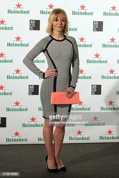 Maria Adanez attends ARCO Madrid by Heineken cocktail party Palacio de Fernan Nunez on February 19 2014 in Madrid Spain
