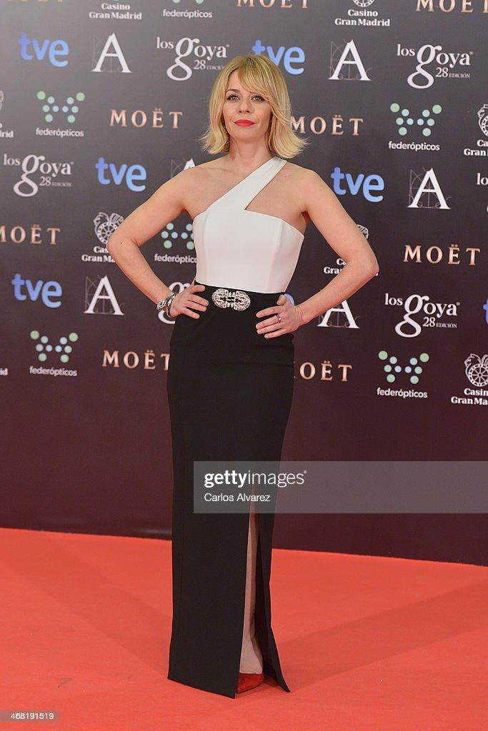 Maria Adanez attends Goya Cinema Awards 2014 at Centro de Congresos Principe Felipe on February 9, 2014 in Madrid, Spain.