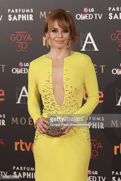 Maria Adanez attends Goya Cinema Awards 2016 at Madrid Marriott Aud