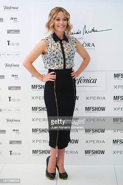 Maria Adanez attends photocall during the Moises Nieto fashion show at Telefonica Building on September 5 2012 in Madrid Spain