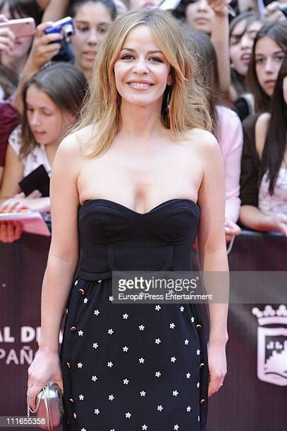 Maria Adanez attends the 14th Malaga Film Festival closing ceremony dressed by Miguel Palacio at Cervantes Theatre on April 3 2011 in Malaga Spain