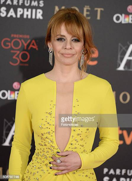 Maria Adanez attends the Goya Cinema Awards 2016 Ceremony at Madrid Marriott Auditorium on February 6 2016 in Madrid Spain