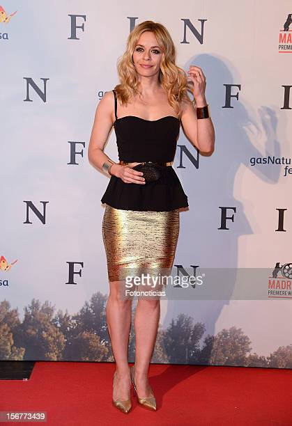 Maria Adanez attends the premiere of 'Fin' at Callao Cinema on November 20 2012 in Madrid Spain