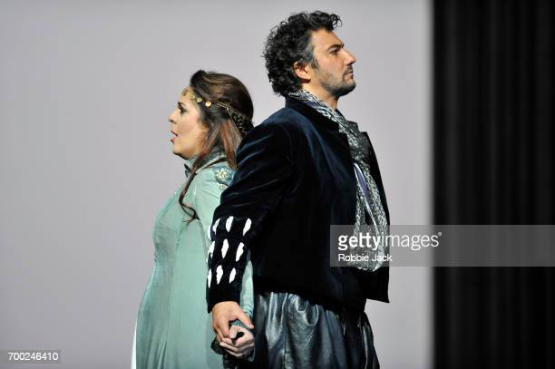 Maria Agresta as Desdemona and Jonas Kaufmann as Otello in the Royal Opera's production of Giuseppe Verdi's Othello directed by Keith Warner and...