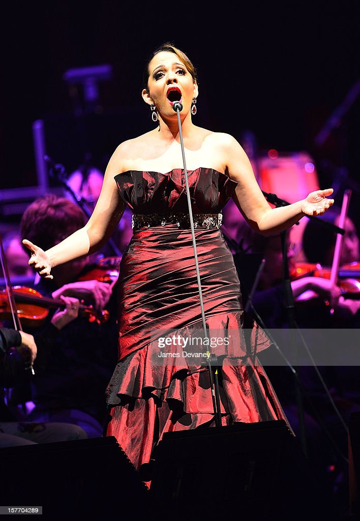 Maria Aleida performs at Barclays Center on December 5, 2012 in the Brooklyn borough of New York City.