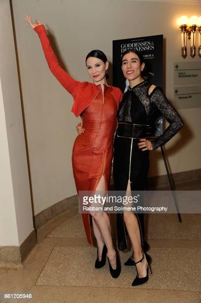 Maria Alexandrova and Blanca Li attend Blanca Li Celebratory Cocktails at New York City Center on March 30 2017 in New York City